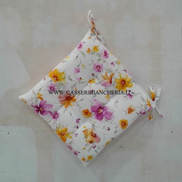 Cuscini per sedie flower - CASSERI BIANCHERIA