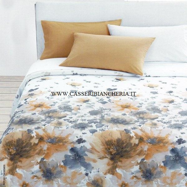 Copriletto matrimoniale vallesusa flower power casseri - Piumini leggeri letto ...