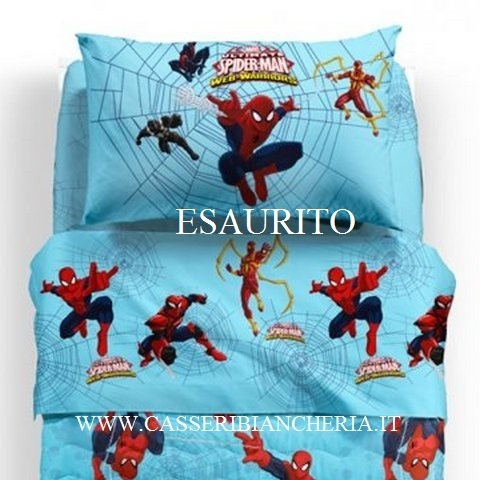 Lenzuolo singolo caleffi spiderman warriors casseri - Letto di spiderman ...