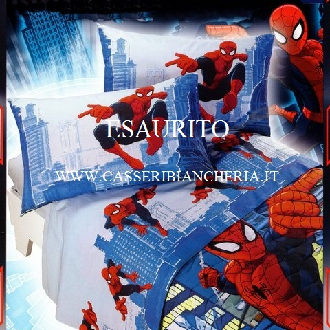 Lenzuolo singolo caleffi spiderman new york casseri - Letto di spiderman ...