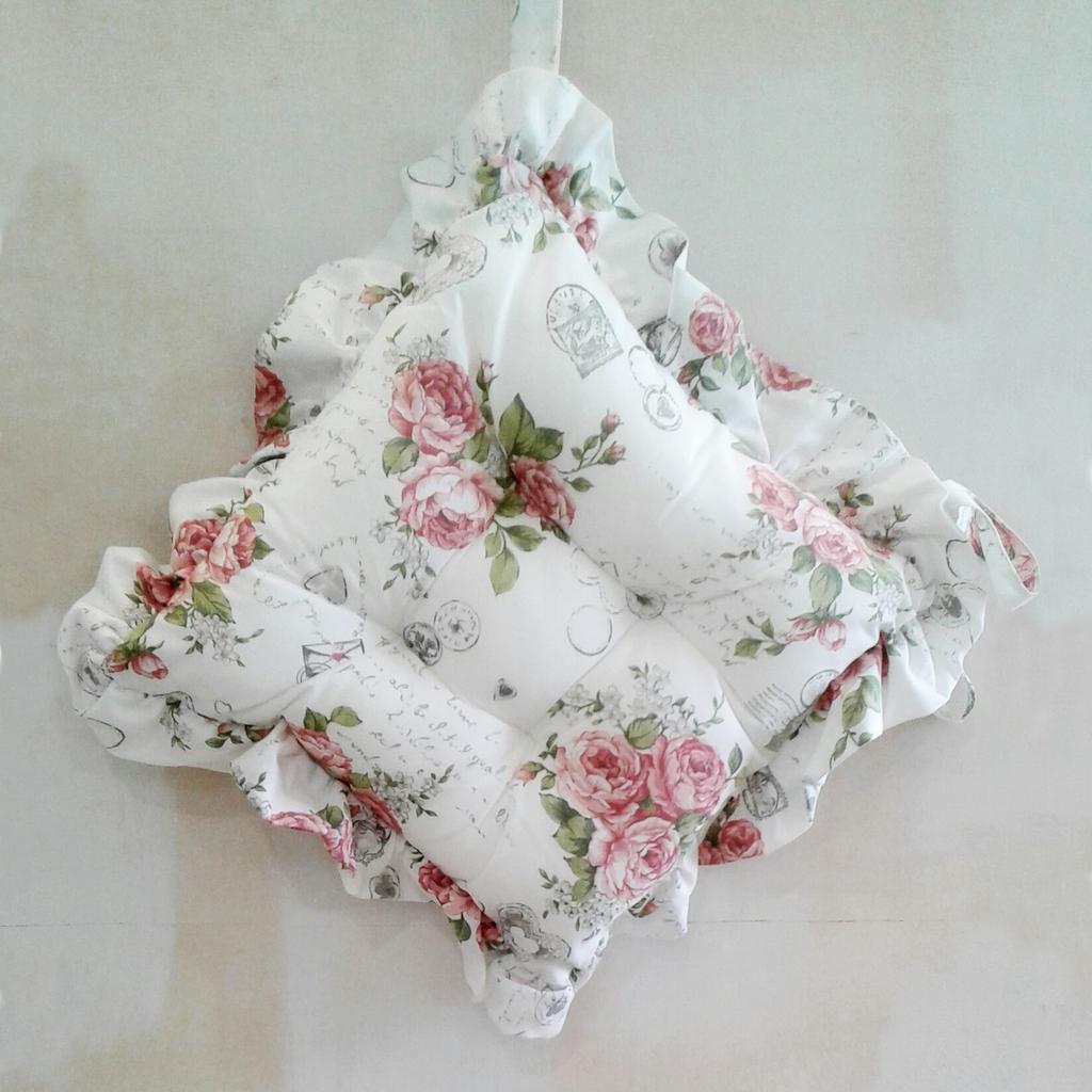Cuscini Per Sedie Shabby.Cuscini Per Sedie Con Volant Shabby Roses Casseri Biancheria