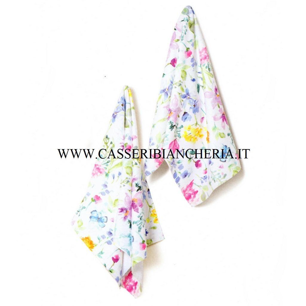 Coppia asciugamani caleffi ikebana casseri biancheria for Asciugamani caleffi