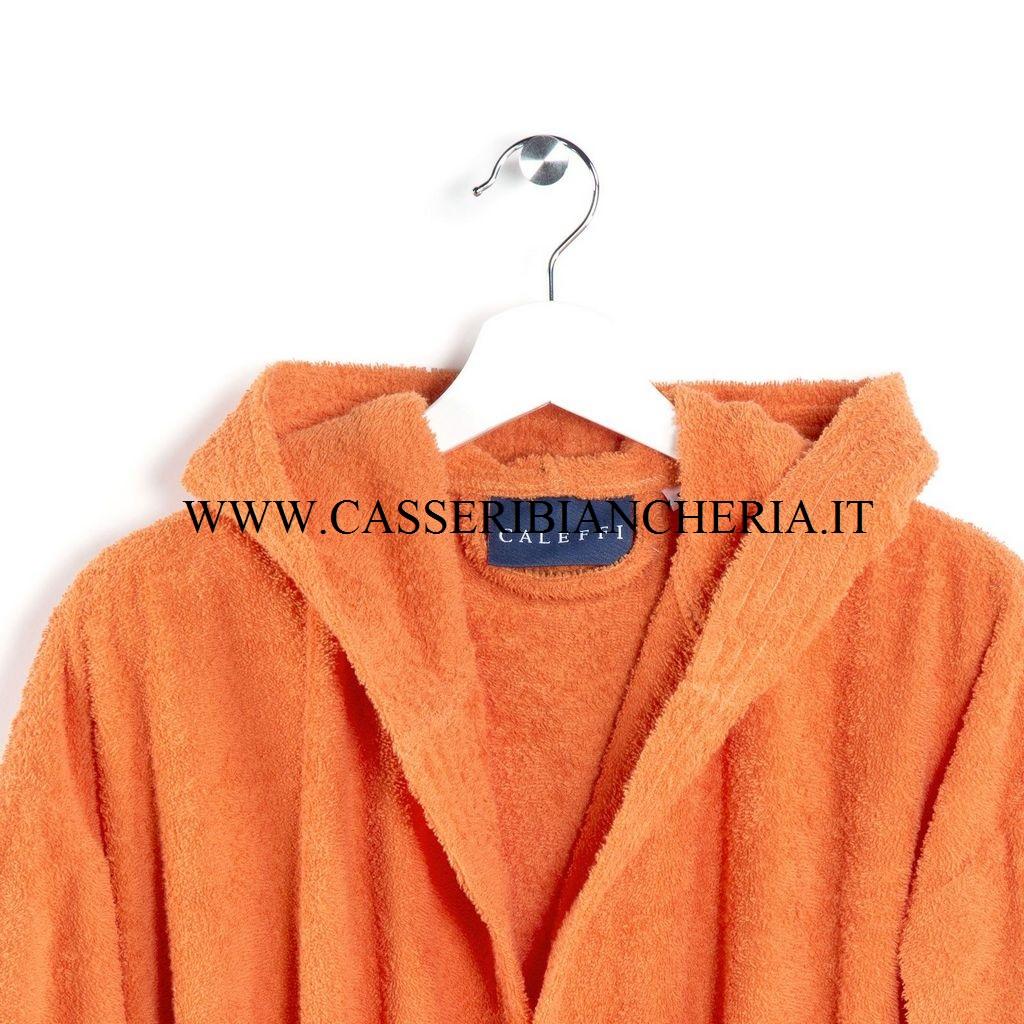 Accappatoio caleffi mimorca arancio casseri biancheria for Accappatoio caleffi