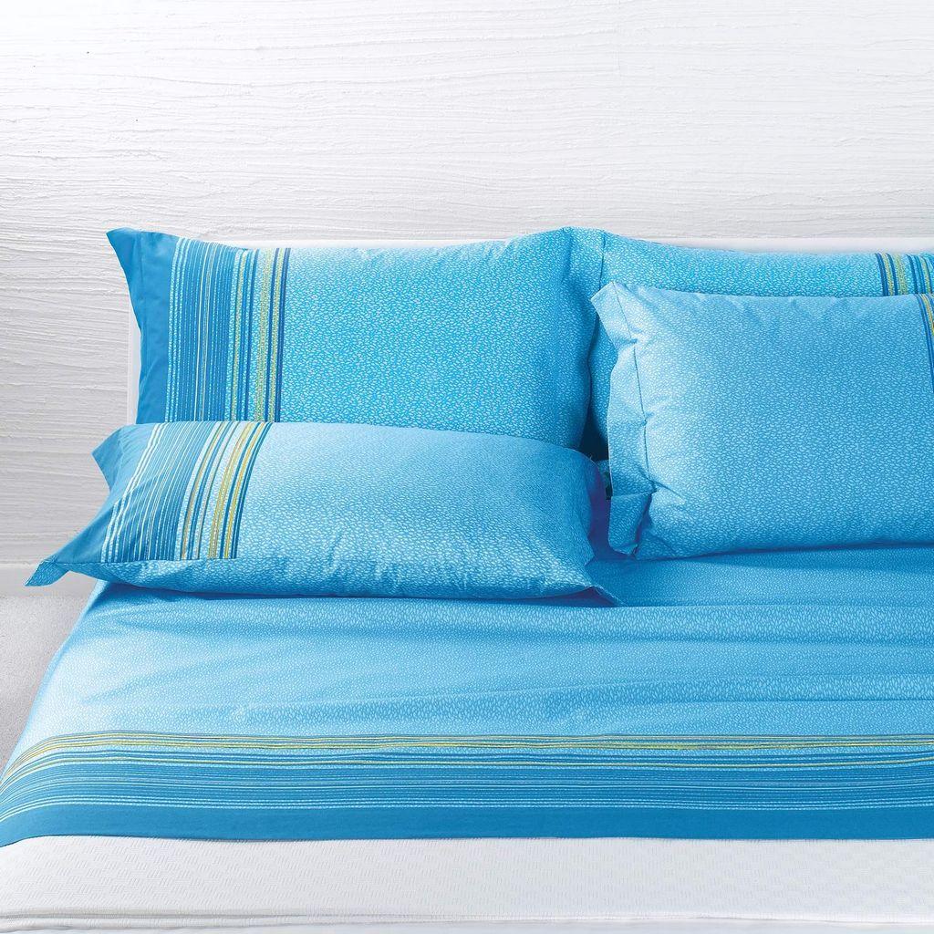 Lenzuola matrimoniali caleffi atlantico azzurro casseri - Lenzuola per letto alla francese ...