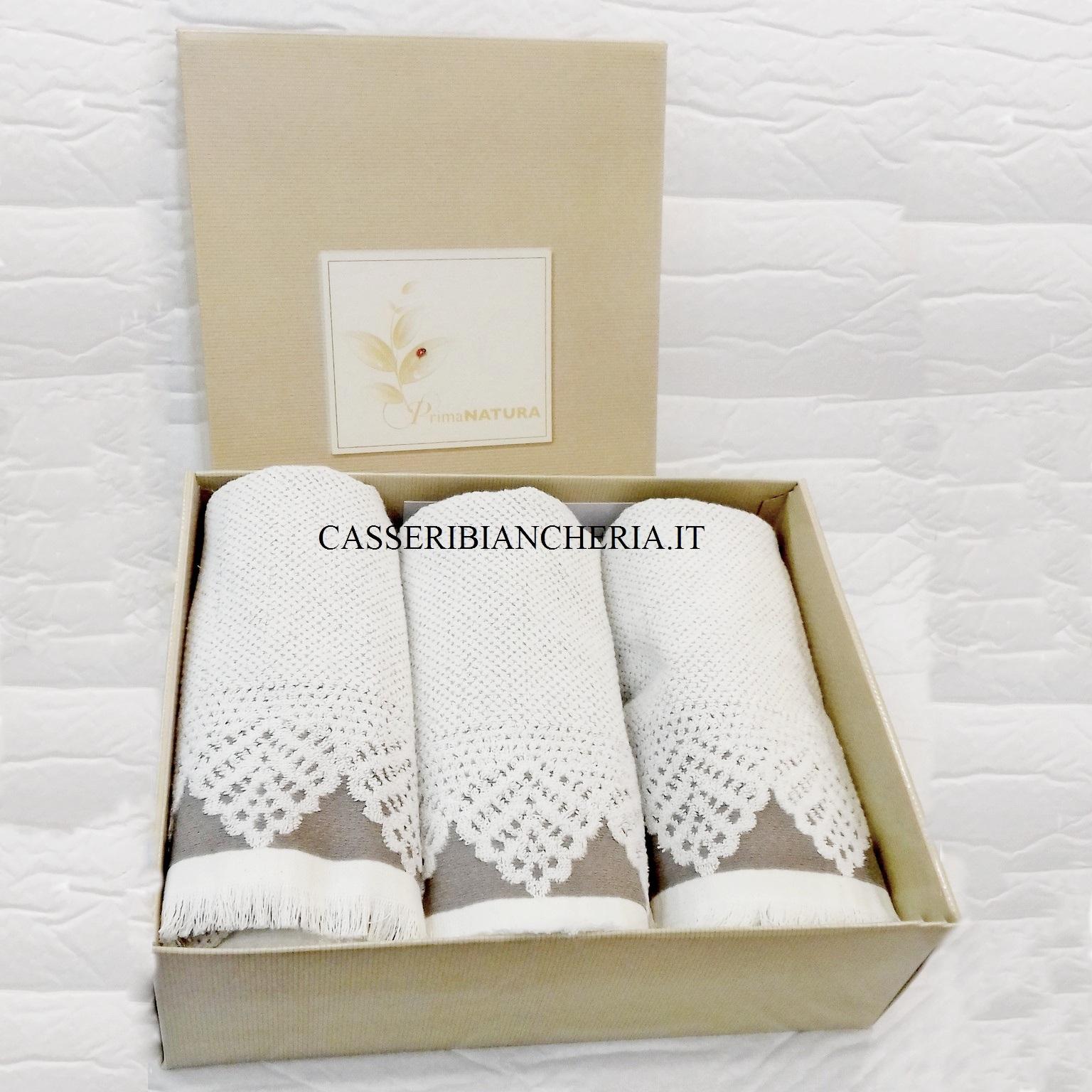 Scatola 3 coppie asciugamani caleffi procida bianco for Asciugamani caleffi
