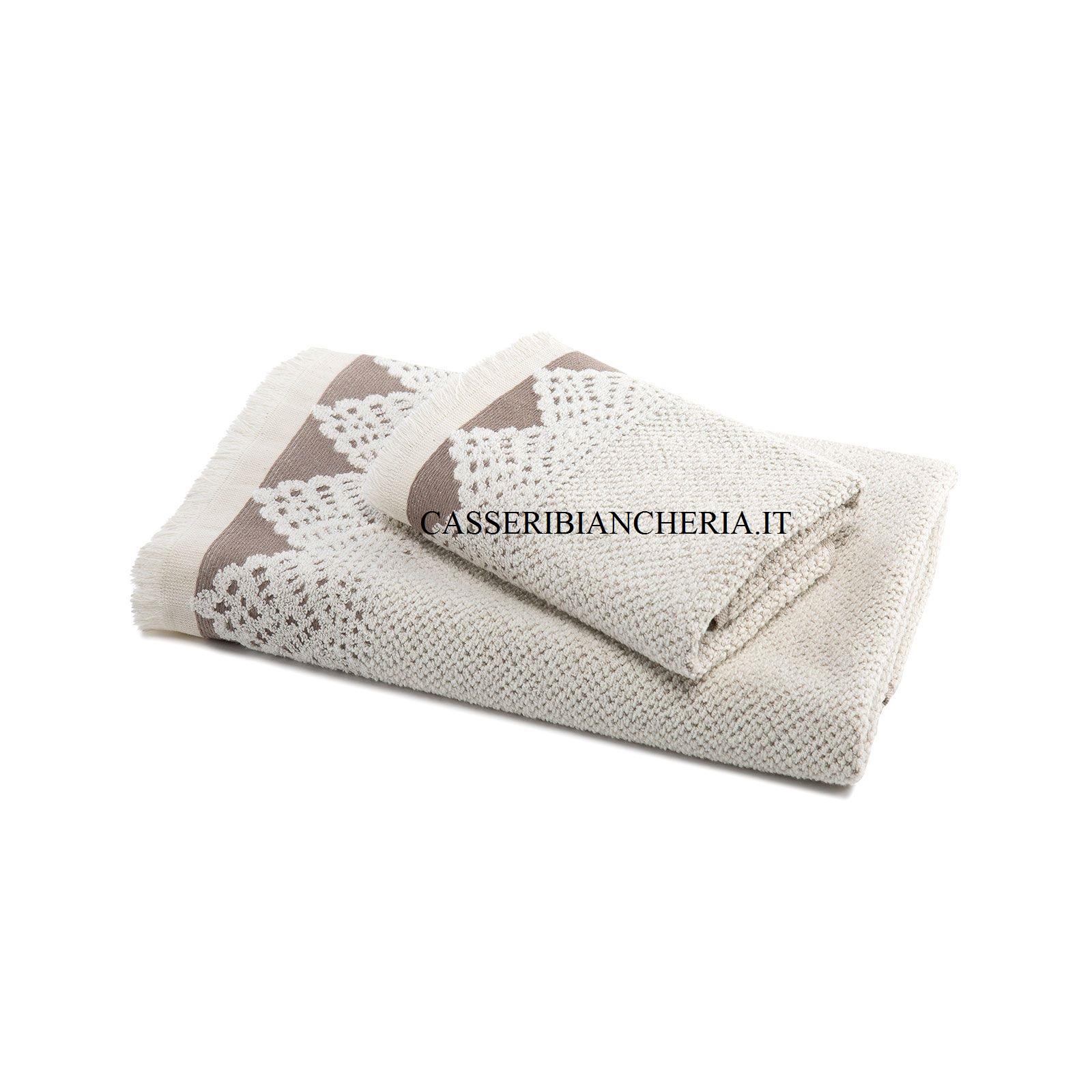 Scatola 3 coppie asciugamani caleffi procida naturale for Asciugamani caleffi