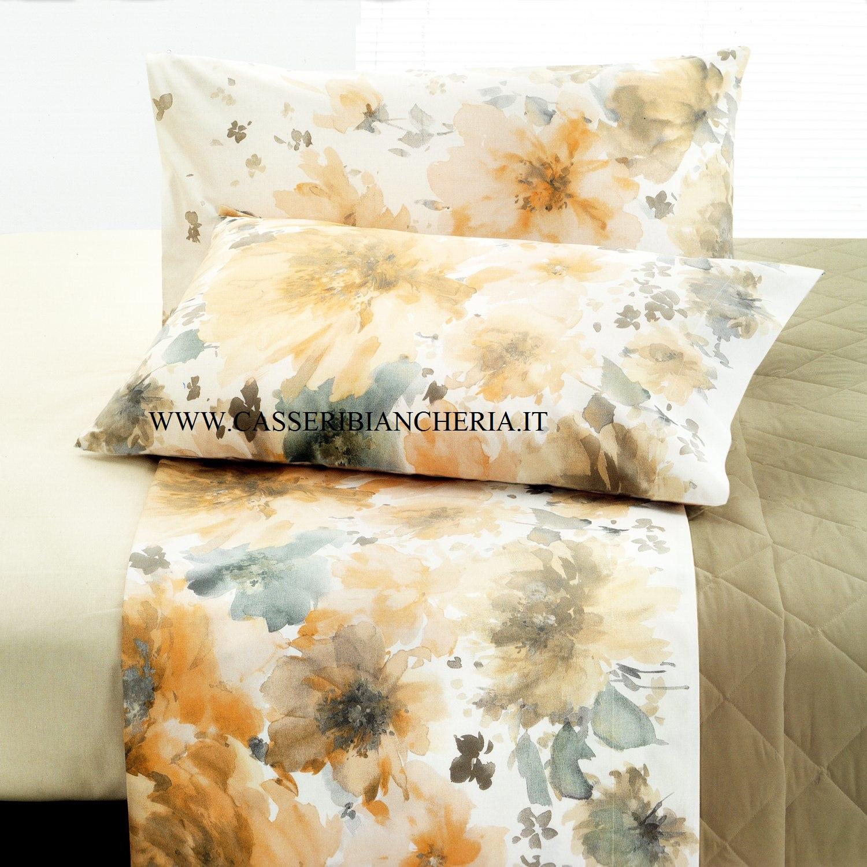 Flower power completo letto matrimoniale maxi vallesusa casseri biancheria - Completo letto matrimoniale ...