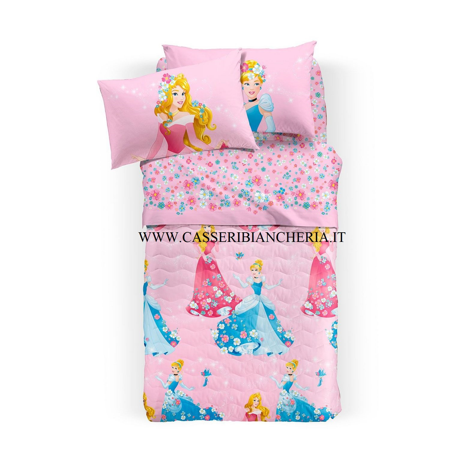 Quilt copriletto princess romantica singolo caleffi - Copriletto singolo bambino ...