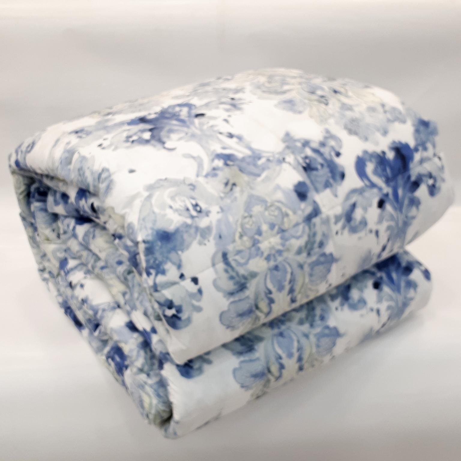 new products 51a0d 80a30 Trapunta Matrimoniale Somma Orissa Azzurro Bluette