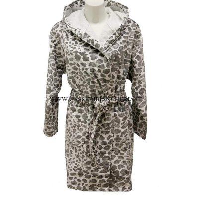 514056c241 Accappatoio da Donna Pretti Leopard Grigio
